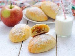 Пирожки из сырного теста с яблоками