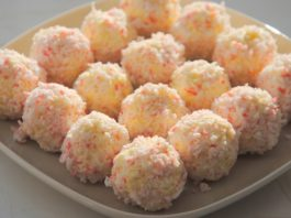 Сырные шарики с крабовыми палочками