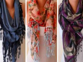 Как правильно носить женский шарф… 58 лучших вариантов!