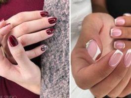 Маникюр осень 2018 на короткие ногти