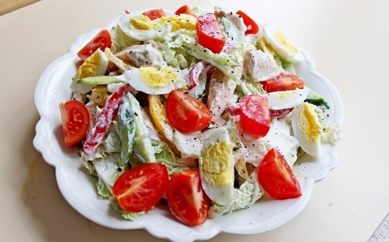 салат с курицей для похудения