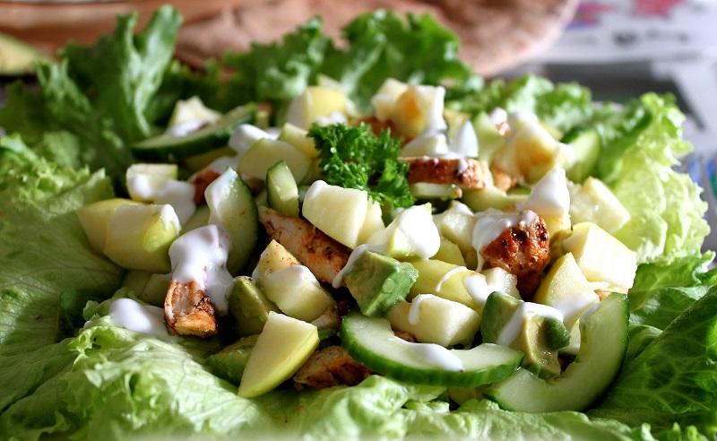 салат с авокадо для похудения